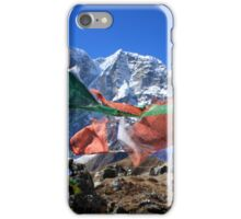 Prayer Flags in the Himalaya - Nepal iPhone Case/Skin