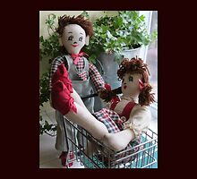 Boy dragging Girl Shopping - Cute couple of dolls by TippyToes