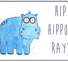 Hippo General/Greetings Card by Francesca  Fearnley