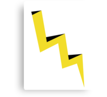 Yellow lightning bolt with black shadow Canvas Print