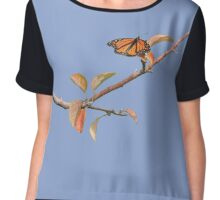 Apple Branch and a Pollinator in Serenity Chiffon Top
