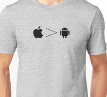 Apple > Android // Set the record straight! Unisex T-Shirt