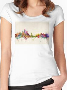 New York Skyline Women's Fitted Scoop T-Shirt