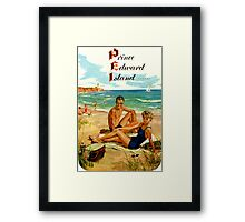 Prince Edward Island PEI Vintage Travel Decal Framed Print
