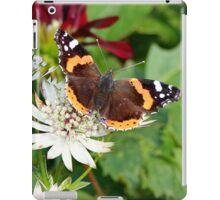 Red Admiral on White Astrantia iPad Case/Skin