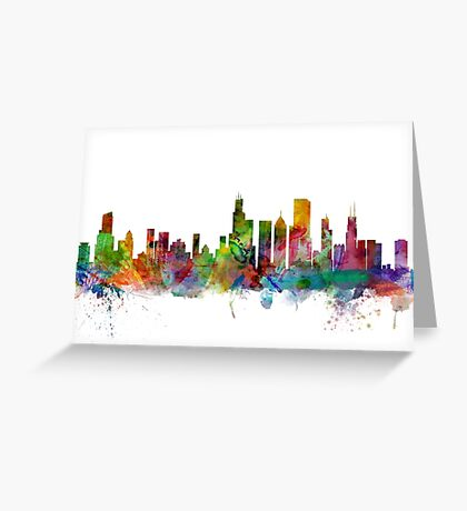Chicago Illinois Skyline Greeting Card