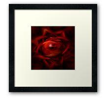 Red Fire Sphere Framed Print