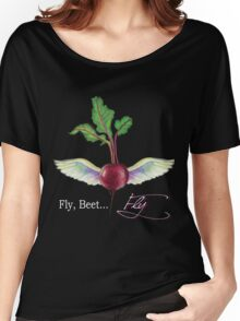 Fly, Beet... Fly Collection on Dark Background Women's Relaxed Fit T-Shirt