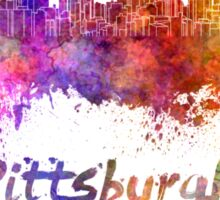 Pittsburgh skyline in watercolor Sticker