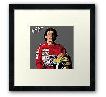 Ayrton Senna Vector Graphic Framed Print
