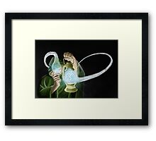 Lighting the way of change. Framed Print