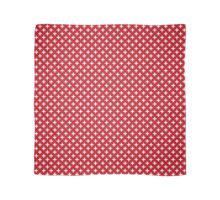 Criss Cross | Plus Sign | Red and White Scarf