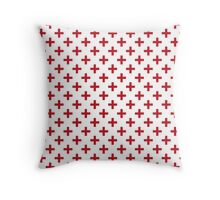 Criss Cross | Plus Sign | Red and White Throw Pillow