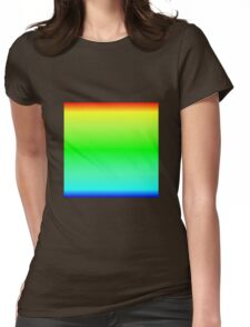 Color Gradient - Blue | Cyan | Green | Yellow | Red Womens Fitted T-Shirt