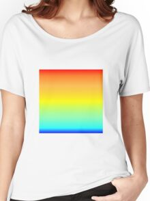 Color Gradient - Blue | Cyan | Yellow | Orange | Red Women's Relaxed Fit T-Shirt