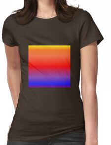 Color Gradient - Purple | Blue | Red | Orange | Yellow Womens Fitted T-Shirt