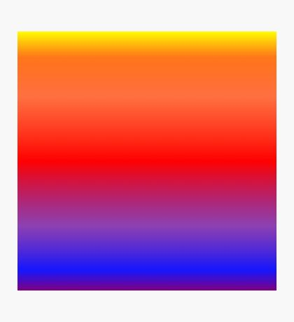 Color Gradient - Purple | Blue | Red | Orange | Yellow Photographic Print