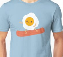 Funny Egg and Bacon Snowboarder Unisex T-Shirt
