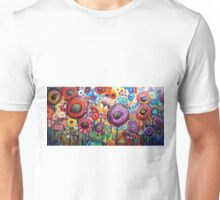 Dancing Poppies Whimsical Colorful Flowers Unisex T-Shirt