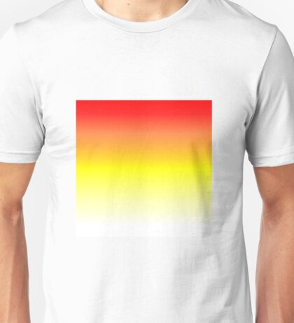 Color Gradient - White | Yellow | Red Unisex T-Shirt