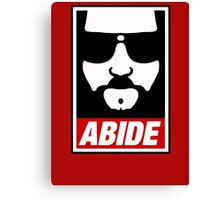 Jeff the big Lebowski abide obey poster Shepard Fairey parody Canvas Print