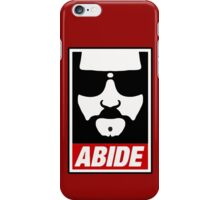 Jeff the big Lebowski abide obey poster Shepard Fairey parody iPhone Case/Skin