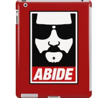 Jeff the big Lebowski abide obey poster Shepard Fairey parody iPad Case/Skin