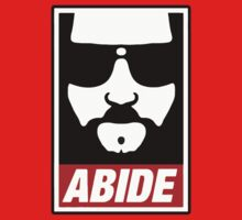 Jeff the big Lebowski abide obey poster Shepard Fairey parody by gilbertop
