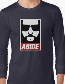 Jeff the big Lebowski abide obey poster Shepard Fairey parody Long Sleeve T-Shirt