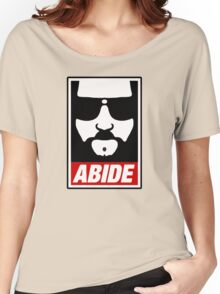Jeff the big Lebowski abide obey poster Shepard Fairey parody Women's Relaxed Fit T-Shirt