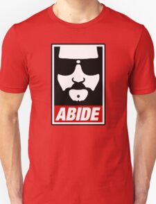 Jeff the big Lebowski abide obey poster Shepard Fairey parody T-Shirt