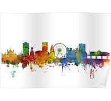 Brighton England Skyline Poster