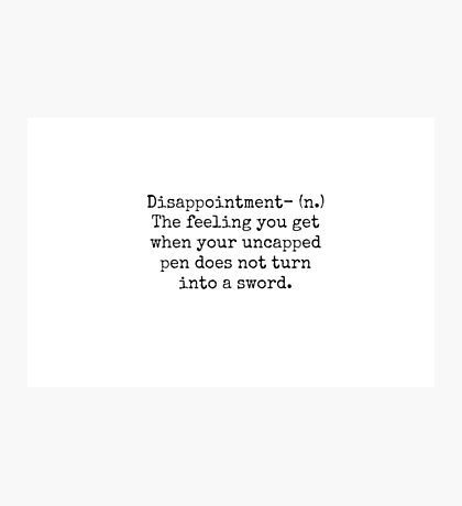 Percy Jackson Disappointment  Photographic Print