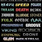 The Genres of Metal by MetalheadMerch