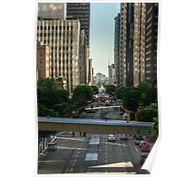 Downtown Los Angeles Poster Poster