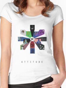 WWE - Attitude Era Women's Fitted Scoop T-Shirt
