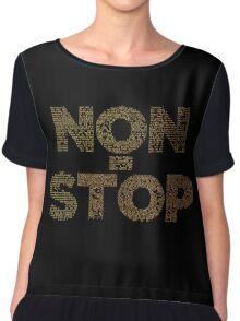 Non-Stop Lyrical Chiffon Top