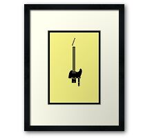 Guitar Art - Telecaster Framed Print