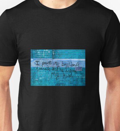 Toenails in blue  Unisex T-Shirt