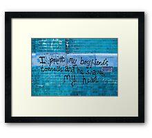Toenails in blue  Framed Print