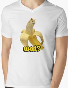 Doge banana dog shibe shiba inus wat? Mens V-Neck T-Shirt