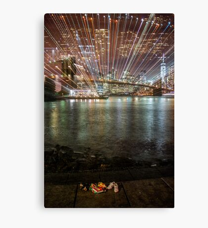 City Warp and Shoes Canvas Print
