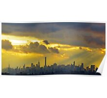 New York City Clouds Poster