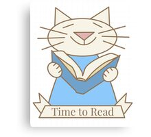 Time to Read Cat Canvas Print