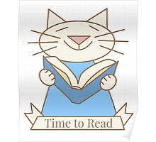 Time to Read Cat Poster