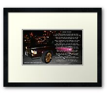 Round The Way Framed Print