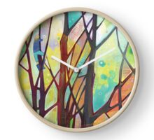 Girl climbing a tree painting - 2012 Clock