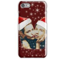 Gillian and David Christmas red iPhone Case/Skin