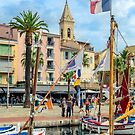 Traditional boats in port of Sanary-sur-Mer , Var, France by 7horses