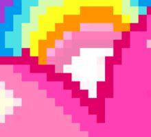8-bit Pixel Rainbow heart Sticker